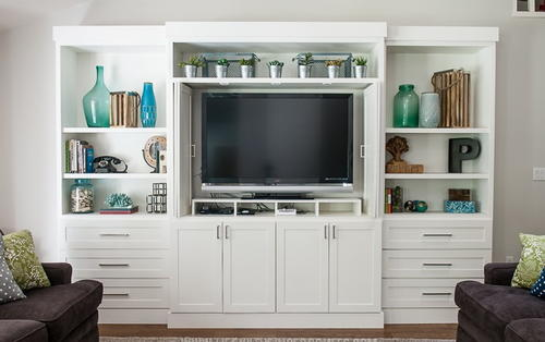 White DIY Entertainment Center
