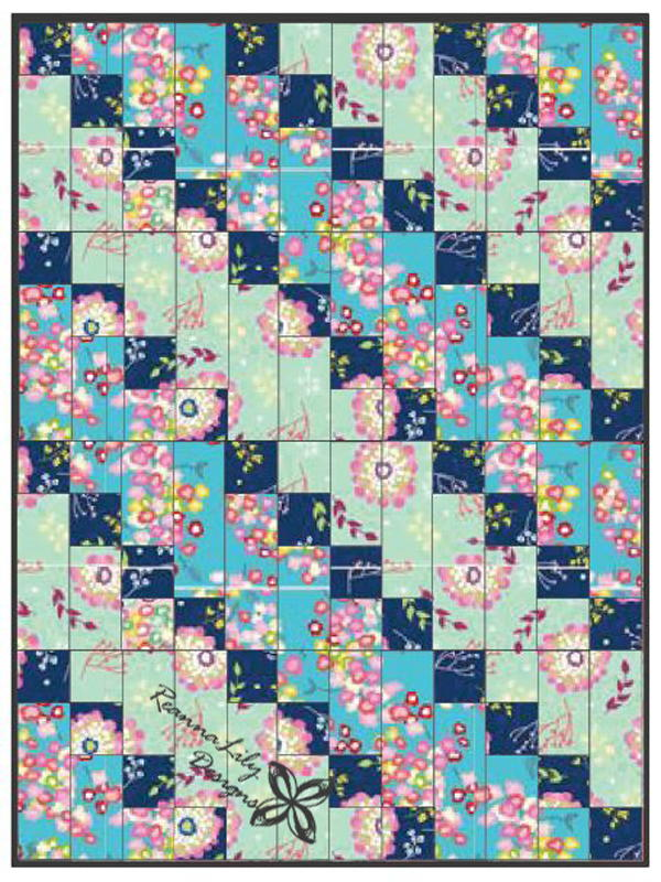Strip Pieced Diagonal Beginner Quilt Allfreesewing