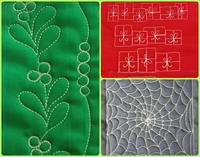 15 Free Motion Quilting Holiday Patterns