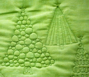 Christmas Tree Free Motion Quilting