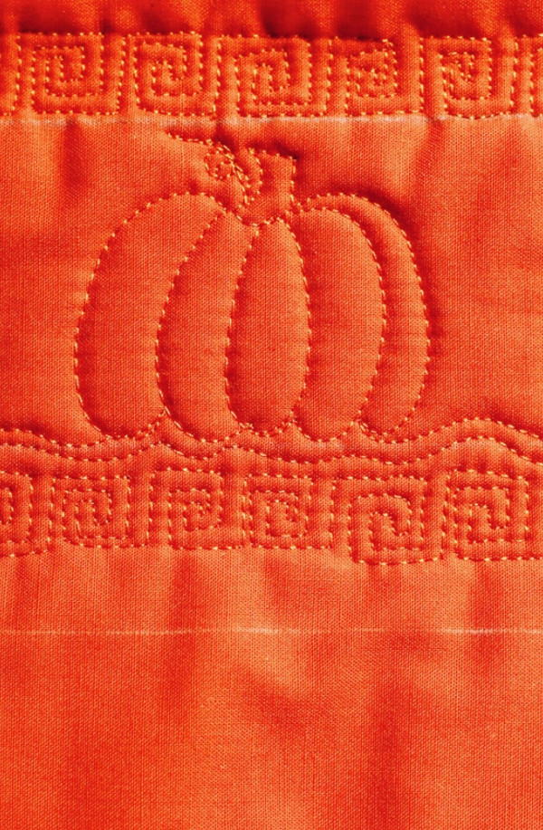 Pumpkin free motion quilt for Free motion quilting templates