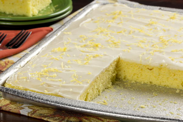 lemon sheet cake lemon sheet cake mrfood 5490