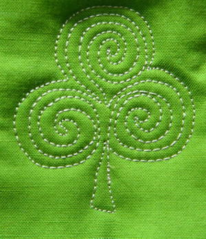 Shamrock Free Motion Quilting Tutorial