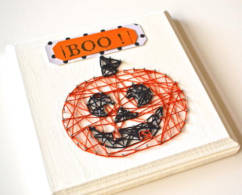 Happy Pumpkin String Art