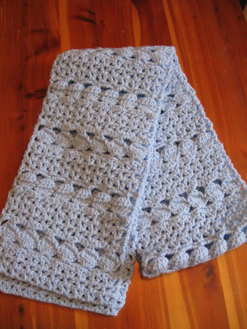 Cozy Blue Crochet Scarf Allfreecrochet
