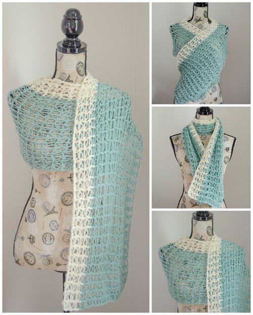 Ocean Breeze Crochet Wrap