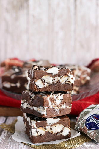 Dark Chocolate Peppermint Patty Fudge