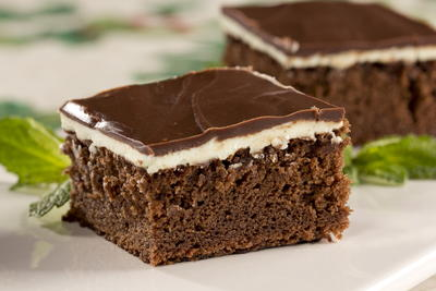 Double Chocolate Mint Bars