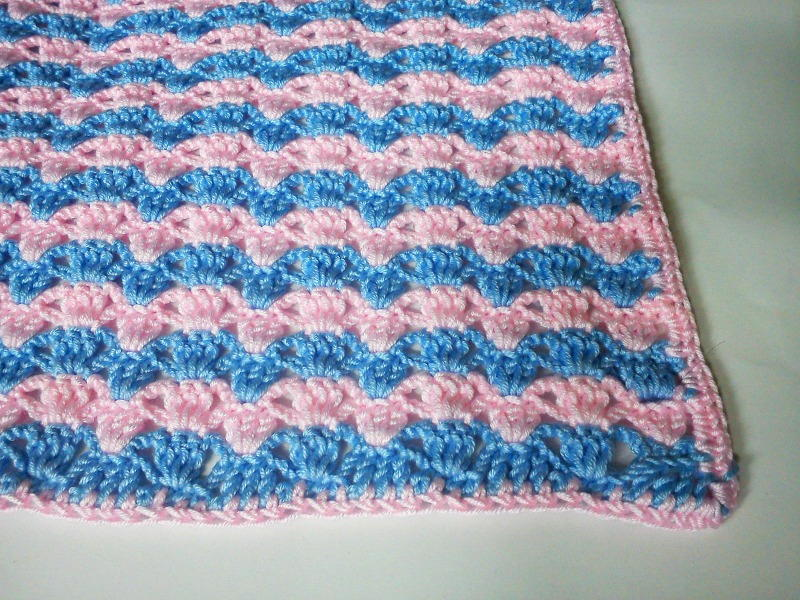 Quick Striped Crochet Baby Blanket Favecrafts Com