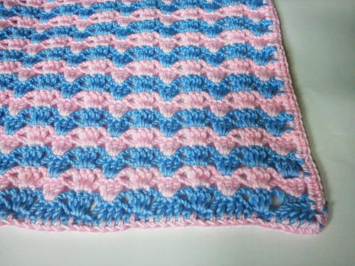Quick Striped Crochet Baby Blanket Favecrafts