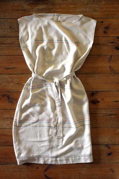 White tablecloth dress
