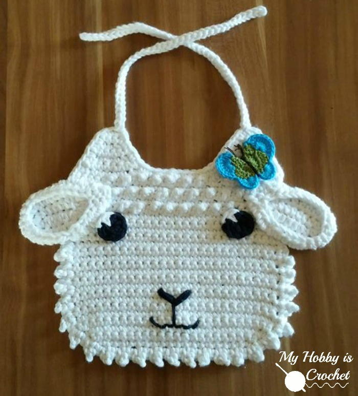 Little Lamb Crochet Bib Allfreecrochet