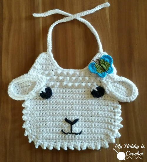 Little Lamb Crochet Bib Allfreecrochet