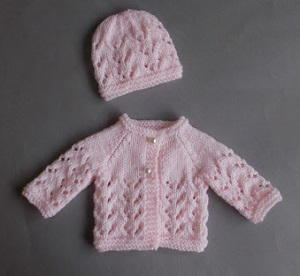 Lace Knit Premature Baby Set