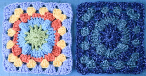 Circle with Popcorn Granny Square