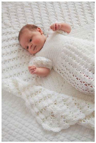 Free Crochet Patterns Christening Blankets : Princess Charlottes Christening Crochet Blanket ...