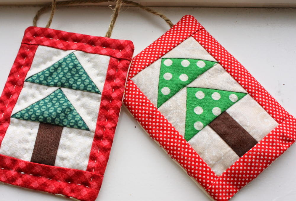 Bitty Trees Quilted Ornaments Favequilts Com