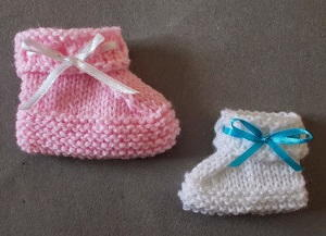 Ribbon Baby Booties