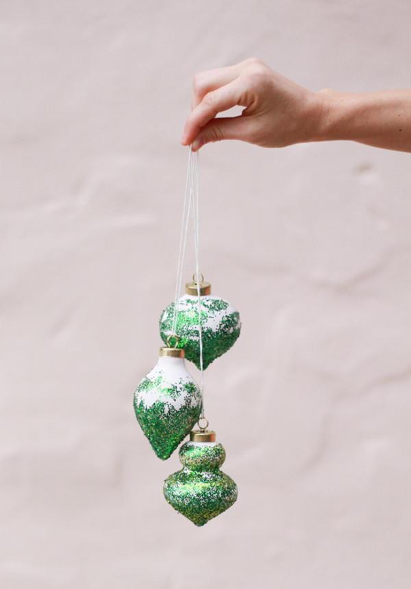 Glitter DIY Christmas Tree Ornaments