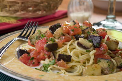 Linguine with Eggplant