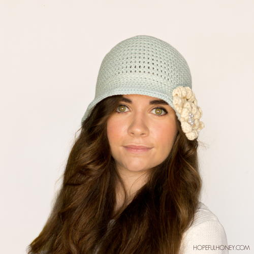 Snowflake Crochet Cloche Hat Allfreecrochet