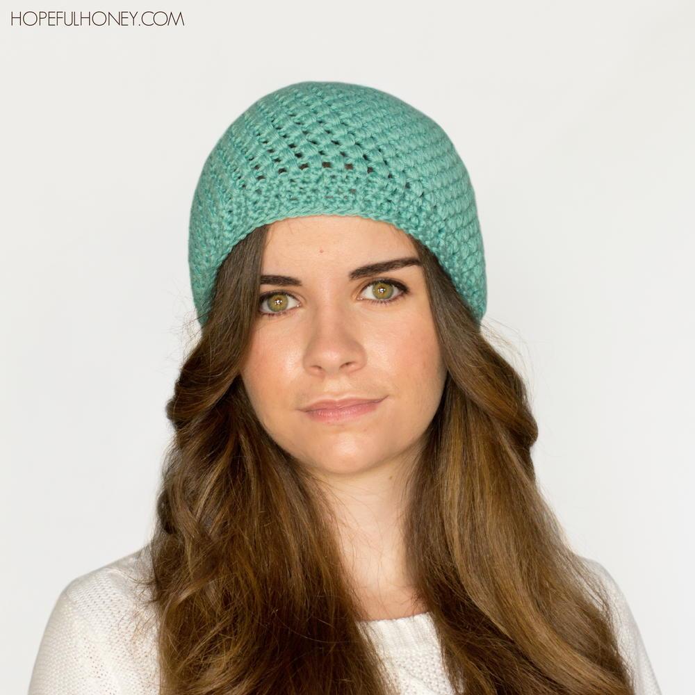 Puff Stitch Crochet Beanie | AllFreeCrochet.com