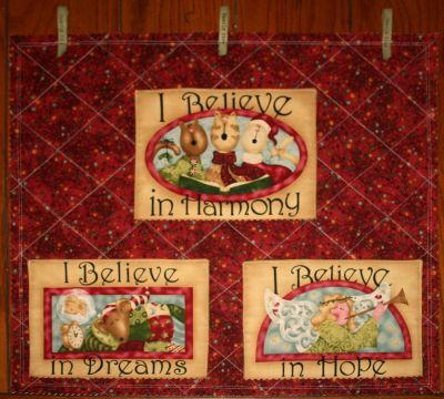 Quilted Christmas Card Holder Favequilts Com