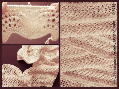 Knitted Easy Lacy Scarf No 1 Allfreeknitting