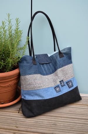 Large Upcycled Denim Tote