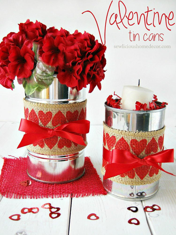 Valentine Tin Cans With Burlap Favecrafts Com
