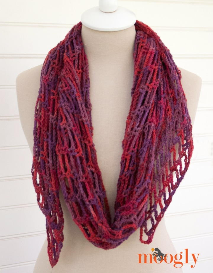 Artfully Simple Angled Crochet Scarf Allfreecrochet