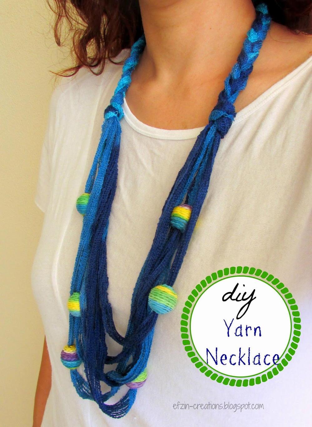 Beaded Yarn Diy Necklace Favecrafts Com