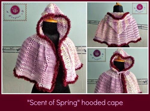 Spring Hooded Crochet Cape Allfreecrochet
