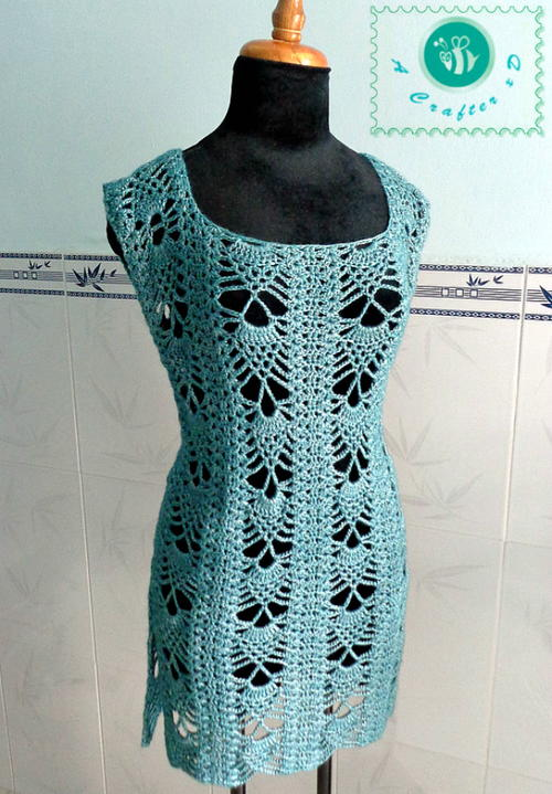 Pineapple Crochet Tunic Allfreecrochet