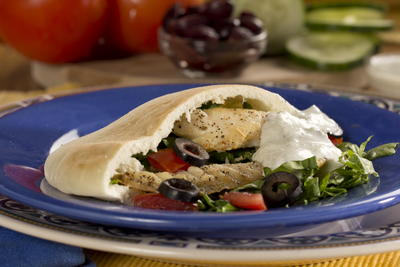 Greek Fish Pitas