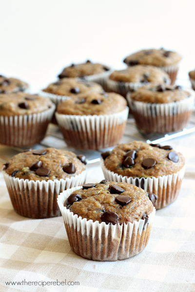 Banana Chocolate Chip Zucchini Muffins