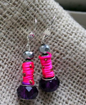 Roze en Paars Earring Tutorial