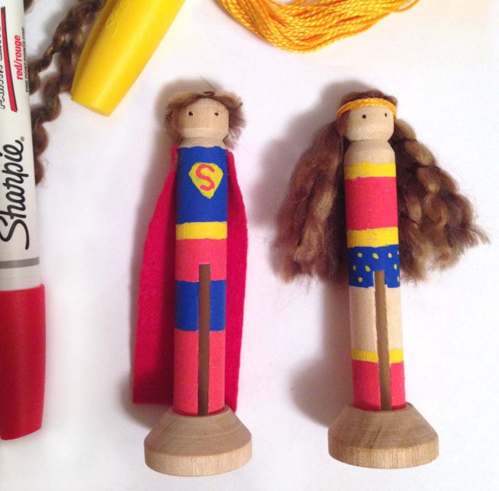 Super Hero Clothespin Dolls AllFreeKidsCrafts