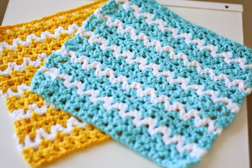 Summer Breeze Dishcloth Allfreecrochet