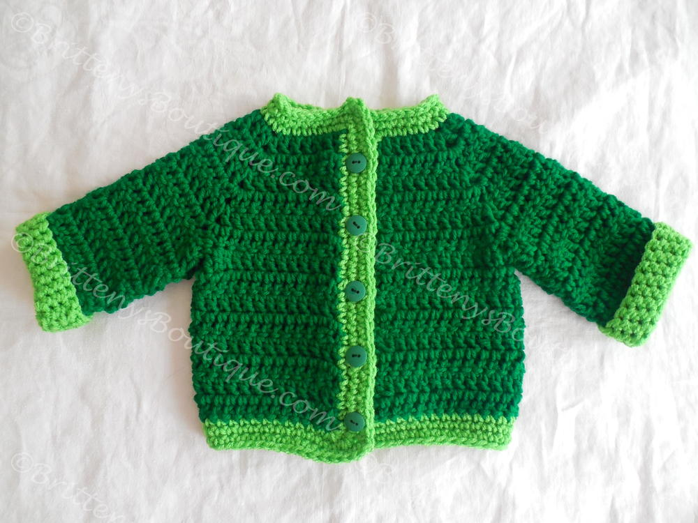 Two Tone Baby Sweater Allfreecrochet Com