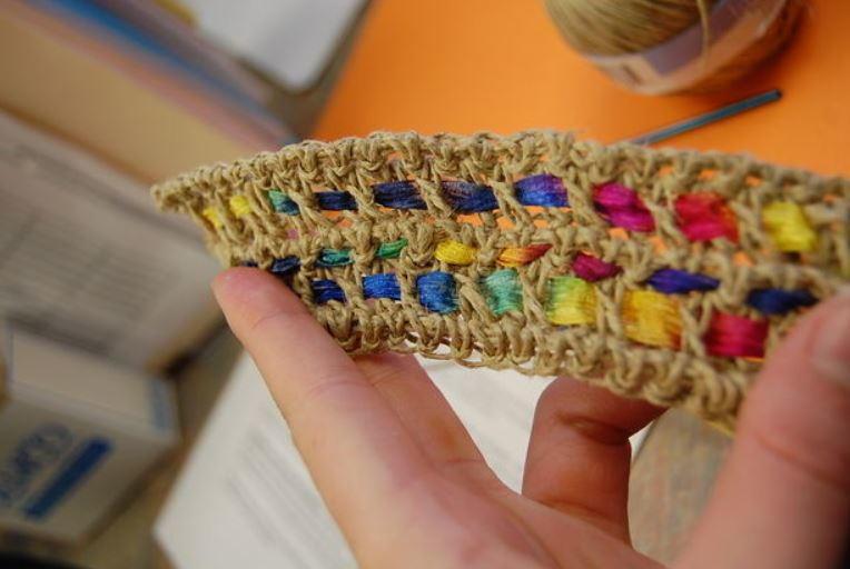 Totally Awesome Hemp Crochet Bracelet Allfreejewelrymaking