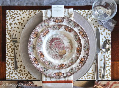 Gorgeous Thanksgiving Table Setting