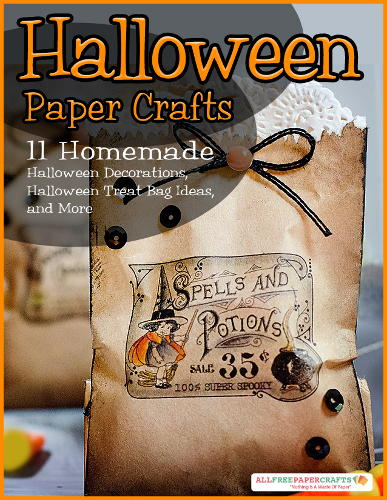 Paper Bag Book Cover Decoration : Halloween paper crafts homemade decorations