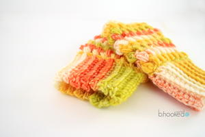 Puff Stitch Fingerless Gloves