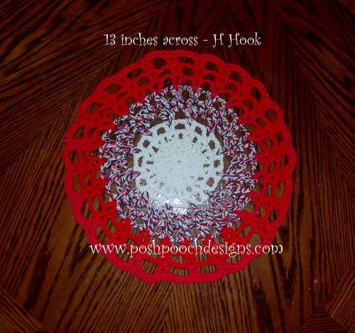 Round Cotton Placemat Allfreecrochet
