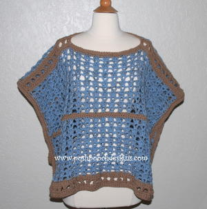 Sand and Sea Crochet Poncho