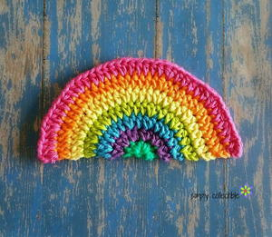 Rainbow Daze Crochet Dishcloth
