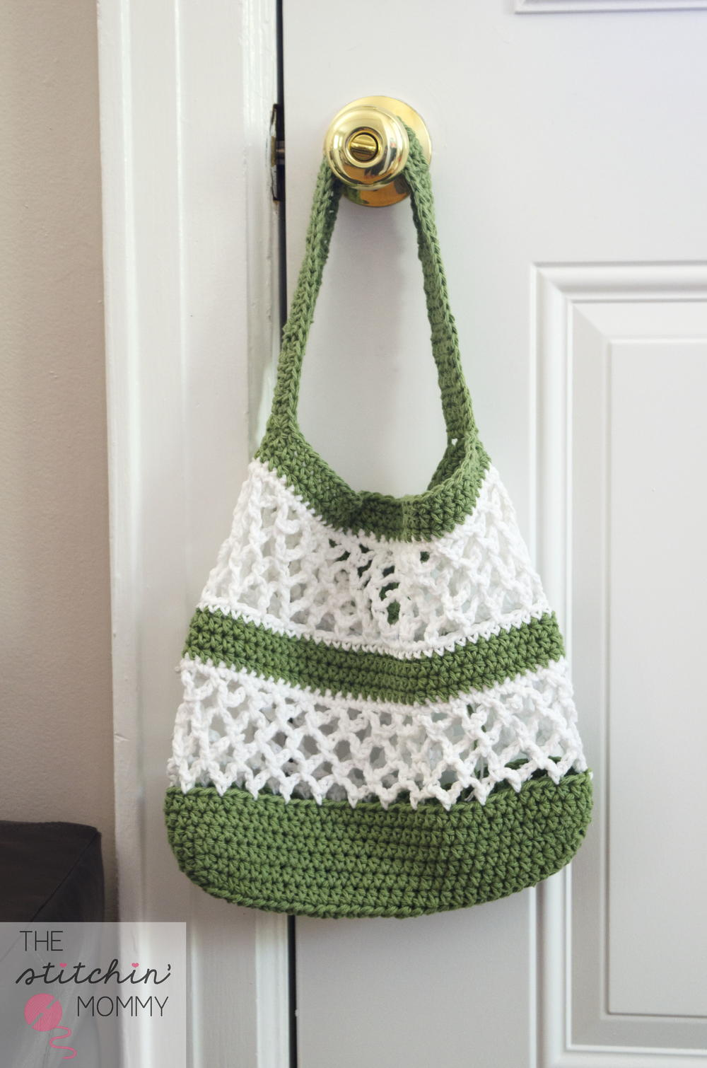 Easy Crochet Mesh Bag Pattern : Go Green Mesh Crochet Tote AllFreeCrochet.com