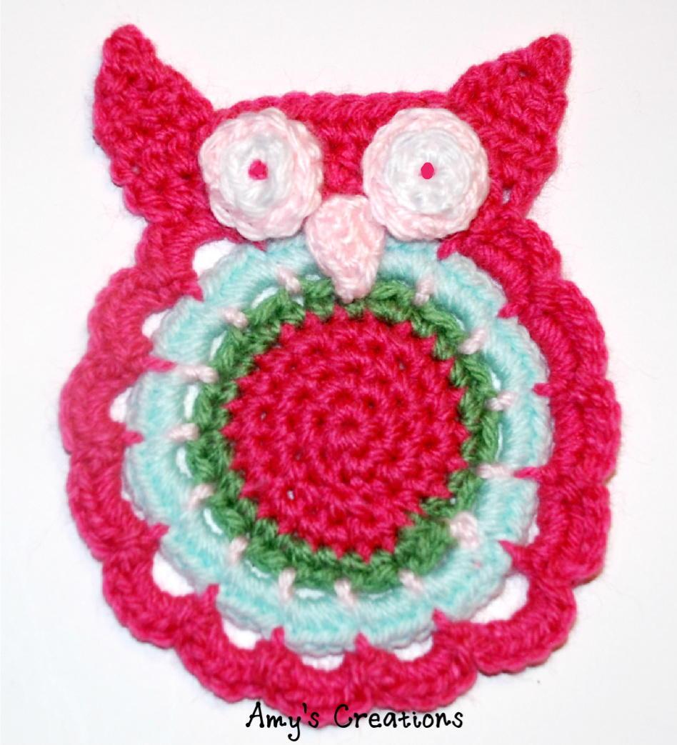 Crochet Owl Coaster | AllFreeCrochet.com