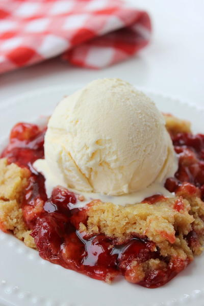 4-Ingredient Cherry Dump Cake